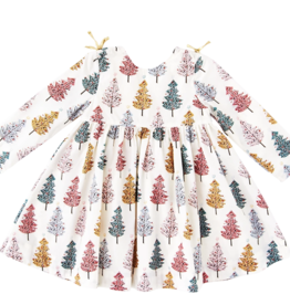 Pink Chicken sheila dress- christmas trees