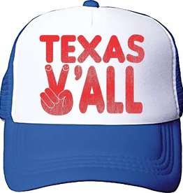 Tiny Whales texas y'all hat- blue