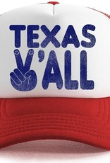 Tiny Whales texas y'all hat- red