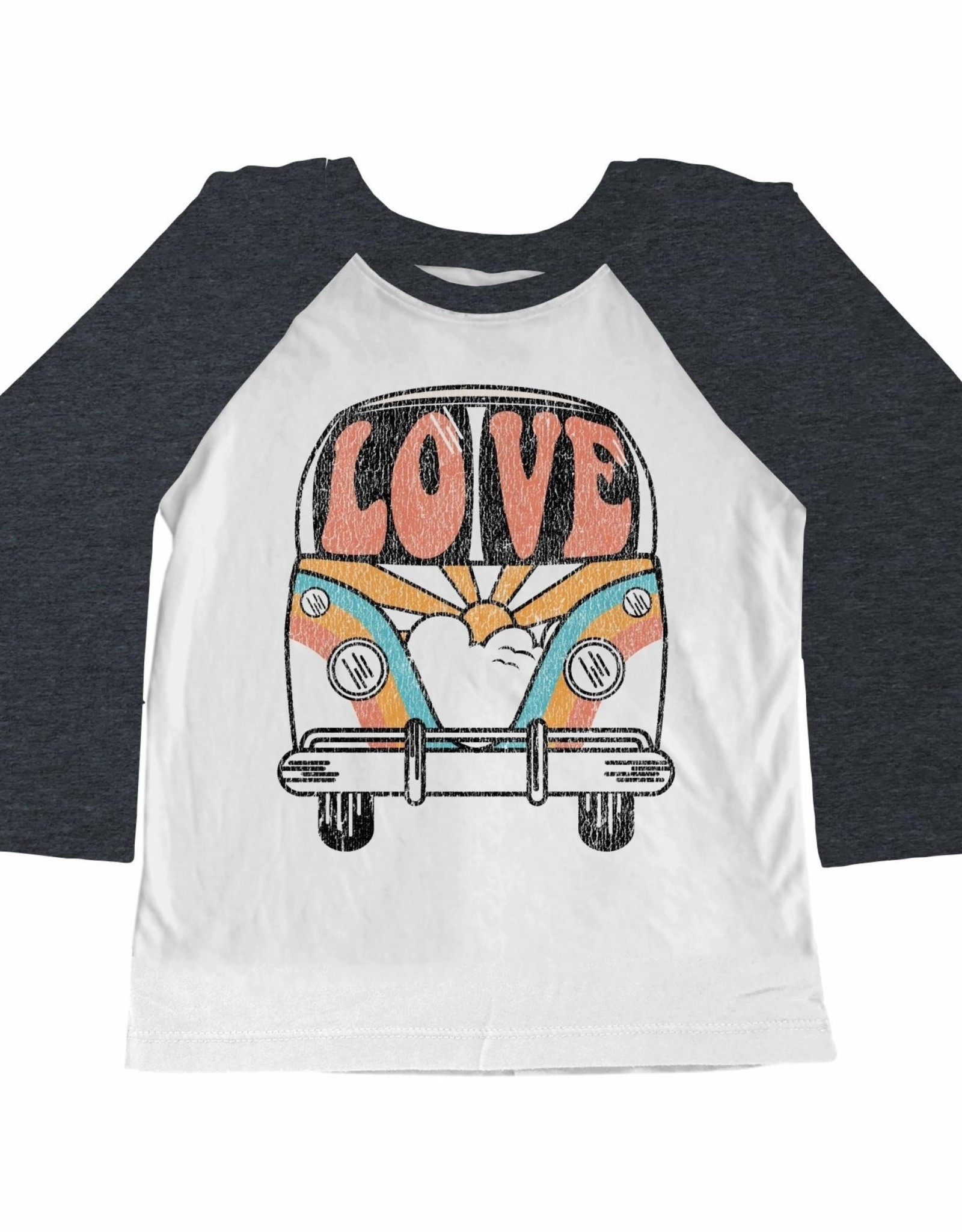 Tiny Whales love bus raglan