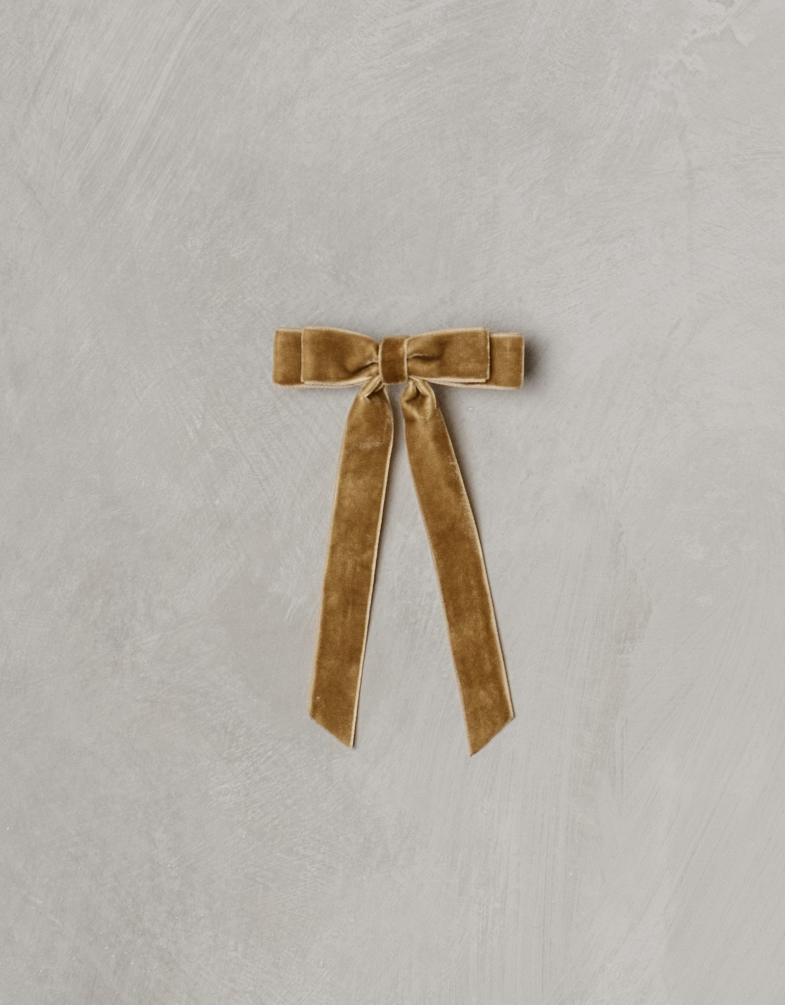 Noralee velvet bow- golden