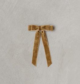 Noralee velvet bow- golden