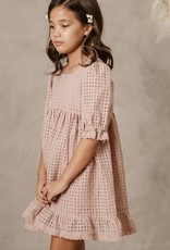 Noralee check quinn dress- dusty rose
