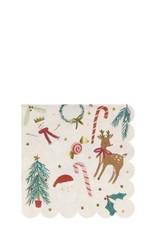 Meri Meri festive motif small napkins