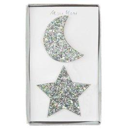 Meri Meri large moon & star hairclips