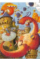 Djeco vaillant & dragon silhouette puzzle