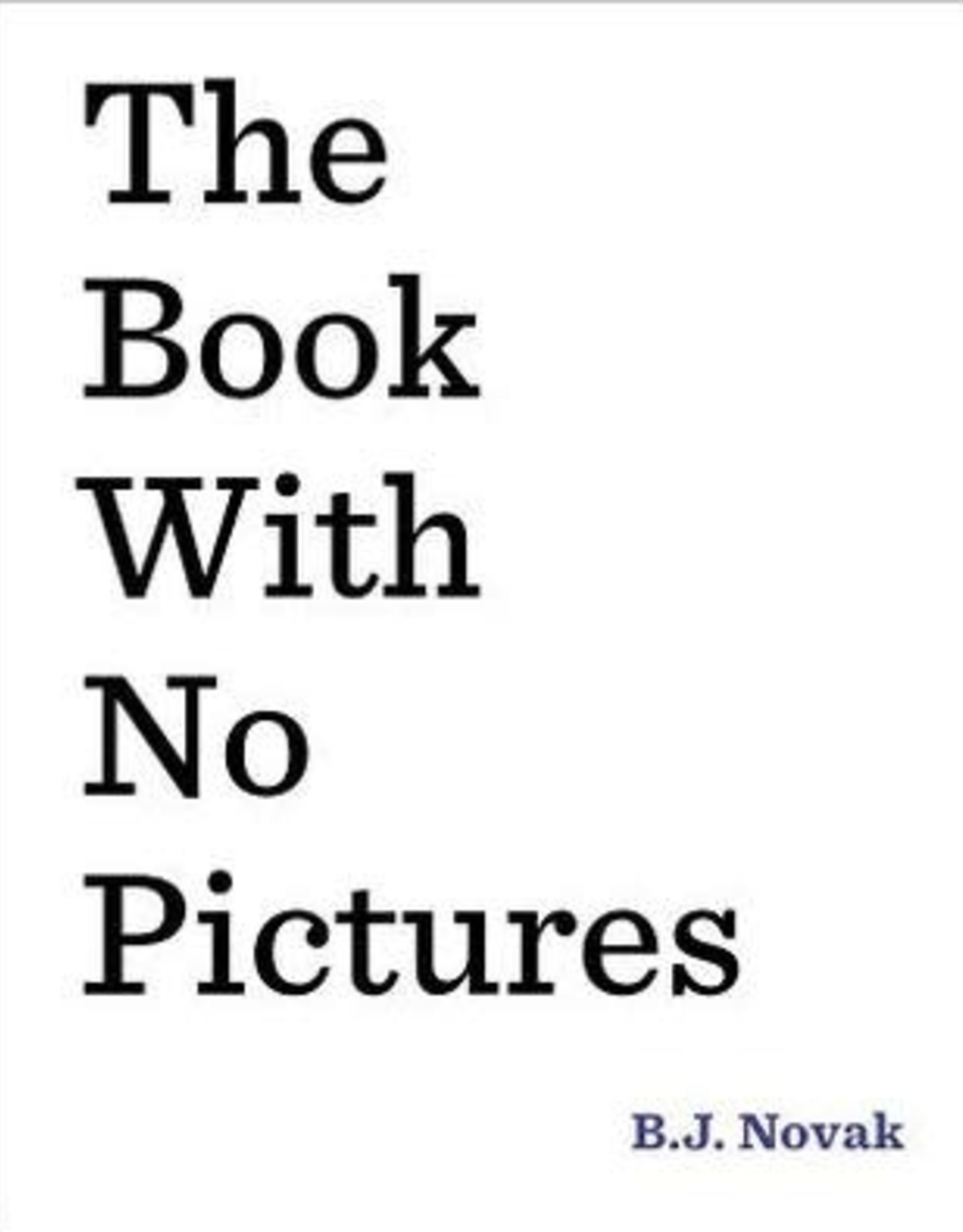 Penguin Random House The Book With No Pictures