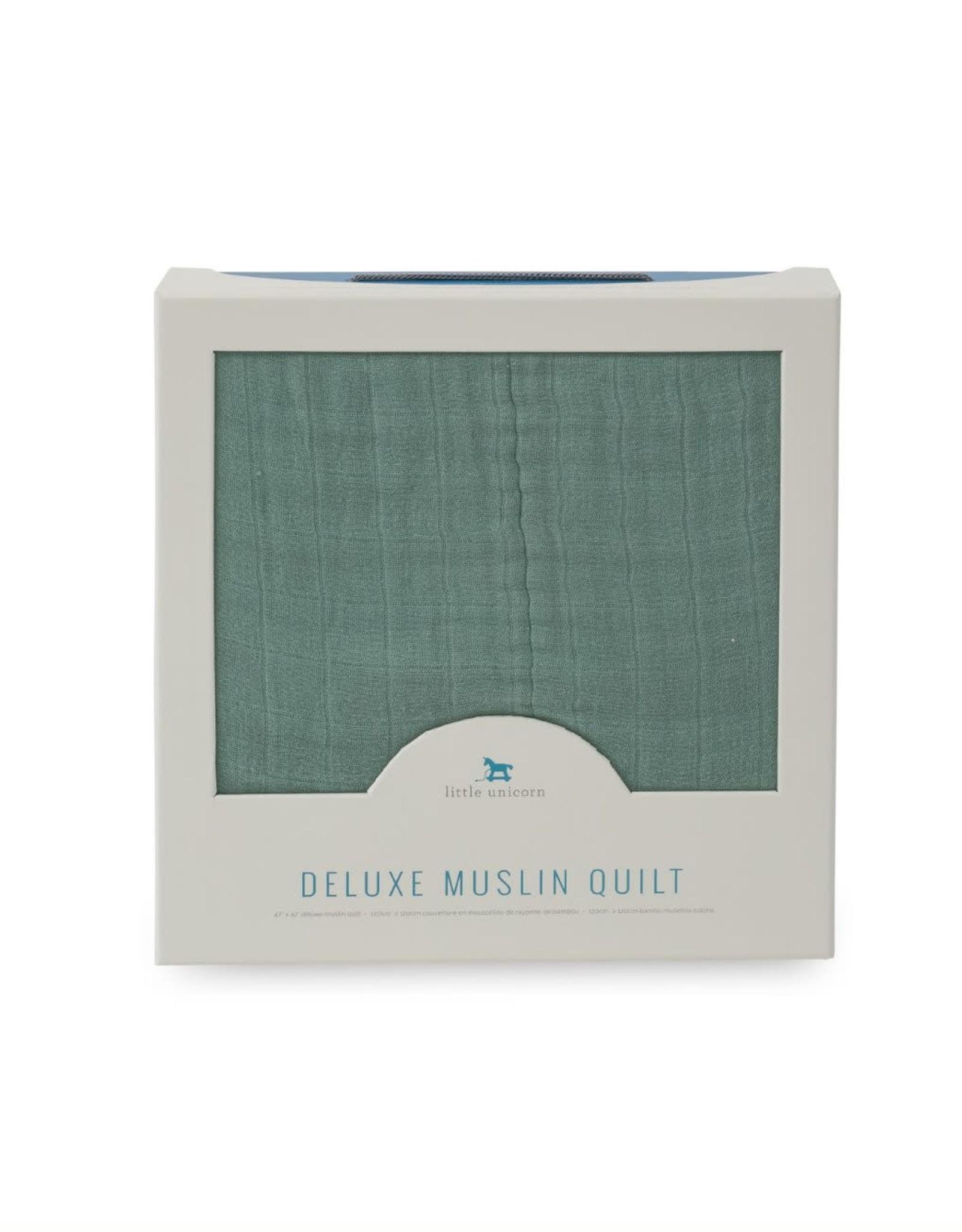 Little Unicorn deluxe muslin quilt- sage