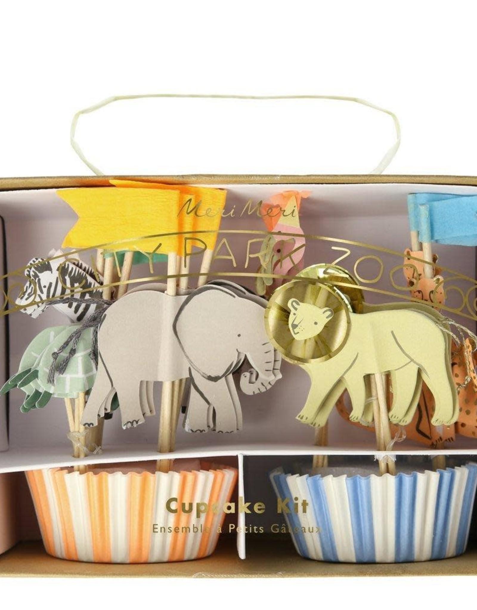 Meri Meri safari animals cupcake kit