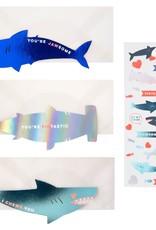Meri Meri shark sticker love notes