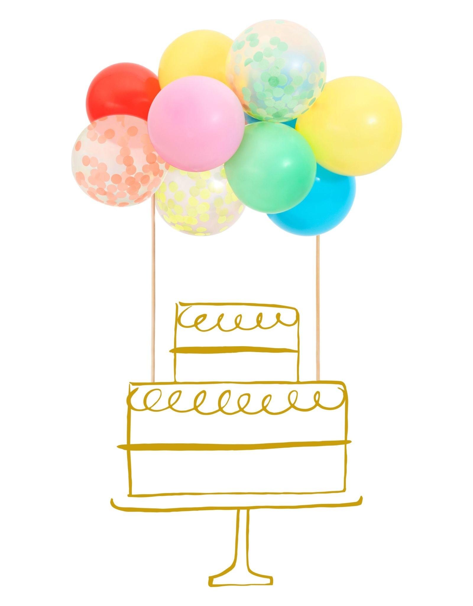 Meri Meri rainbow balloon cake topper