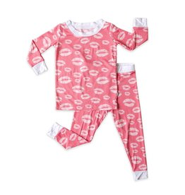 Little Sleepies pink kisses pajamas