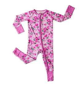 Little Sleepies sweetheart floral zippy