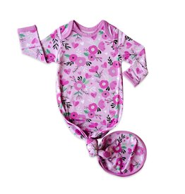 Little Sleepies sweetheart floral gown