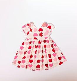 Pink Chicken erin dress- hearts