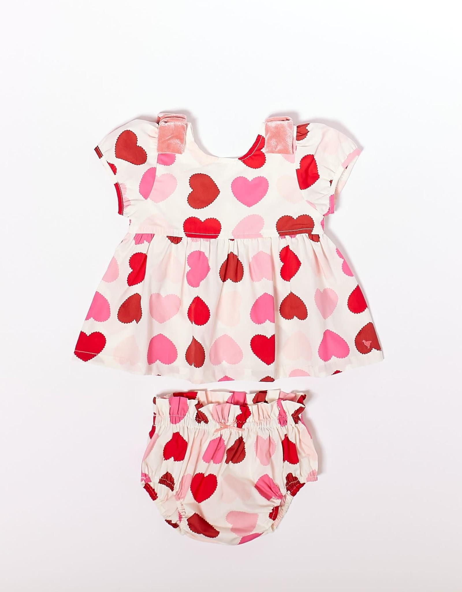 Pink Chicken erin 2 piece set- hearts