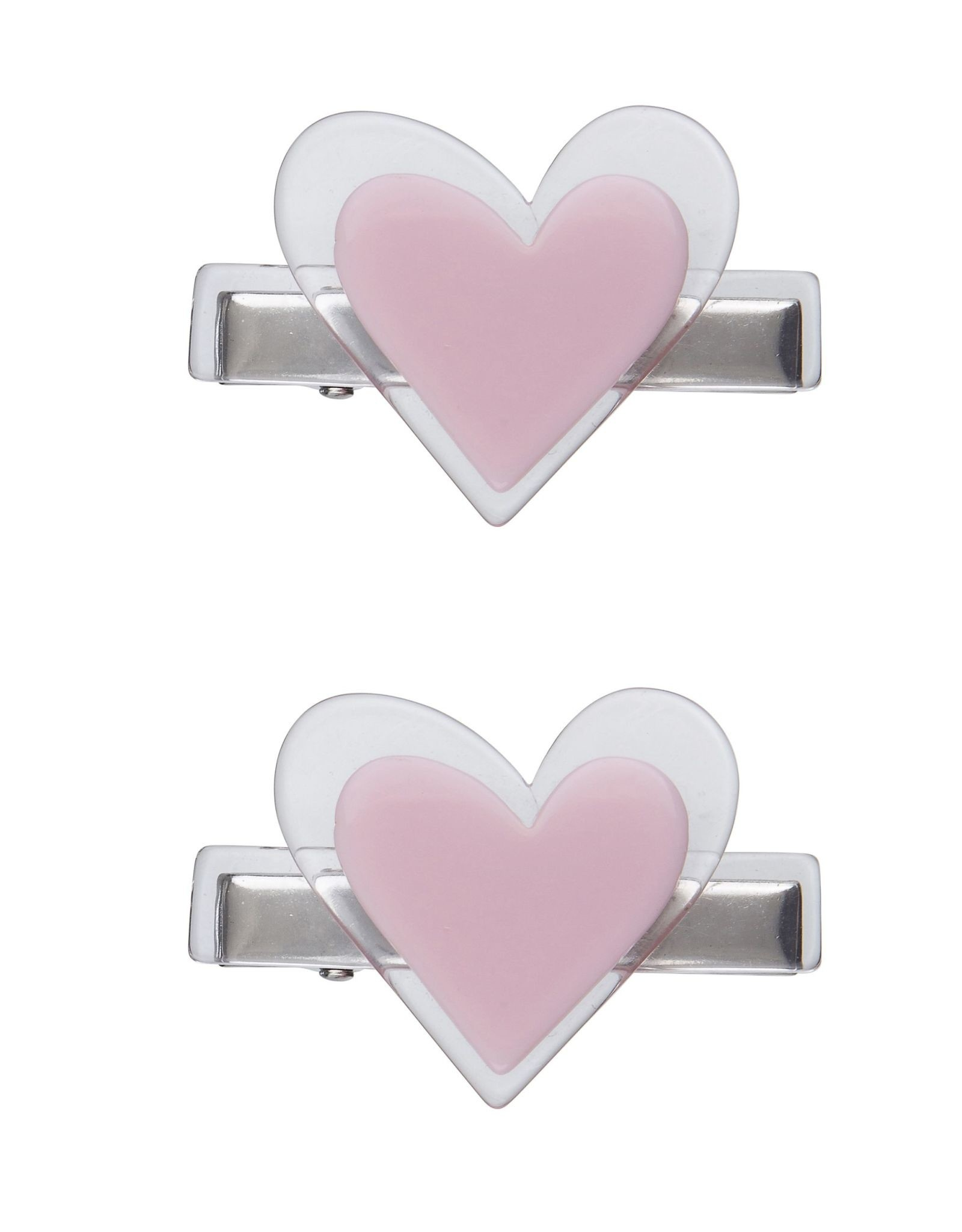Lilies & Roses cici heart hairclips- lt pink