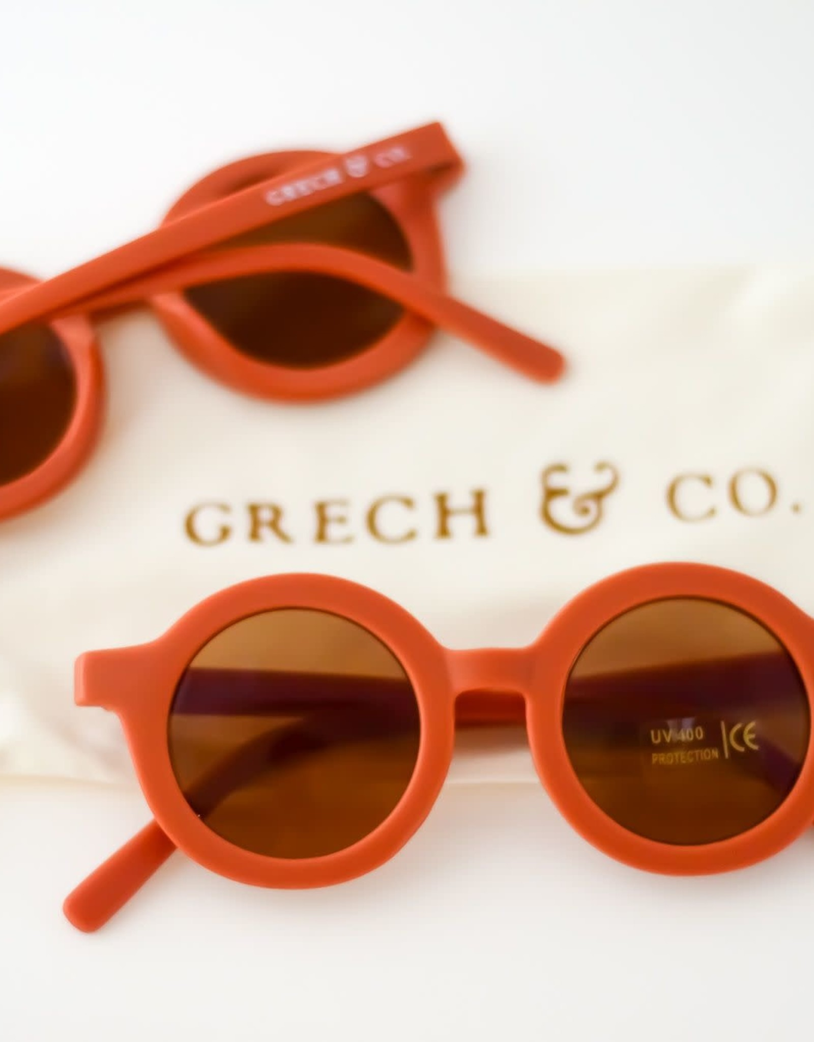 Grech & Co sustainable sunglasses- rust