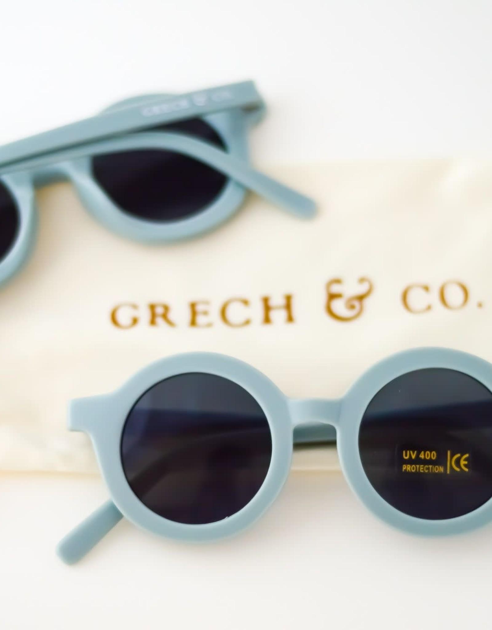 Grech & Co sustainable sunglasses- light blue