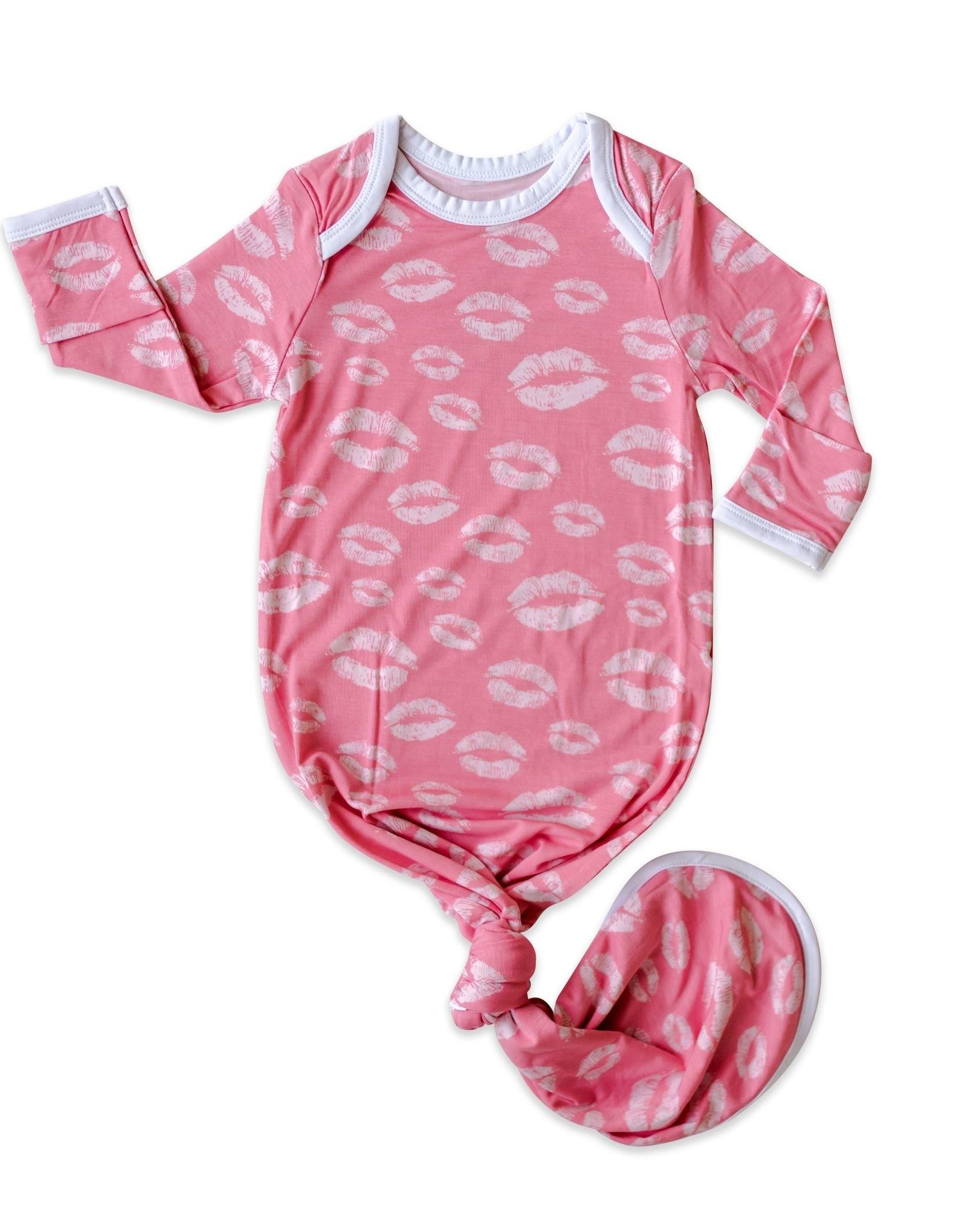 Little Sleepies pink kisses gown