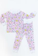 Little Sleepies pink breakfast pajamas