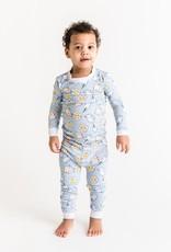 Little Sleepies blue breakfast pajamas