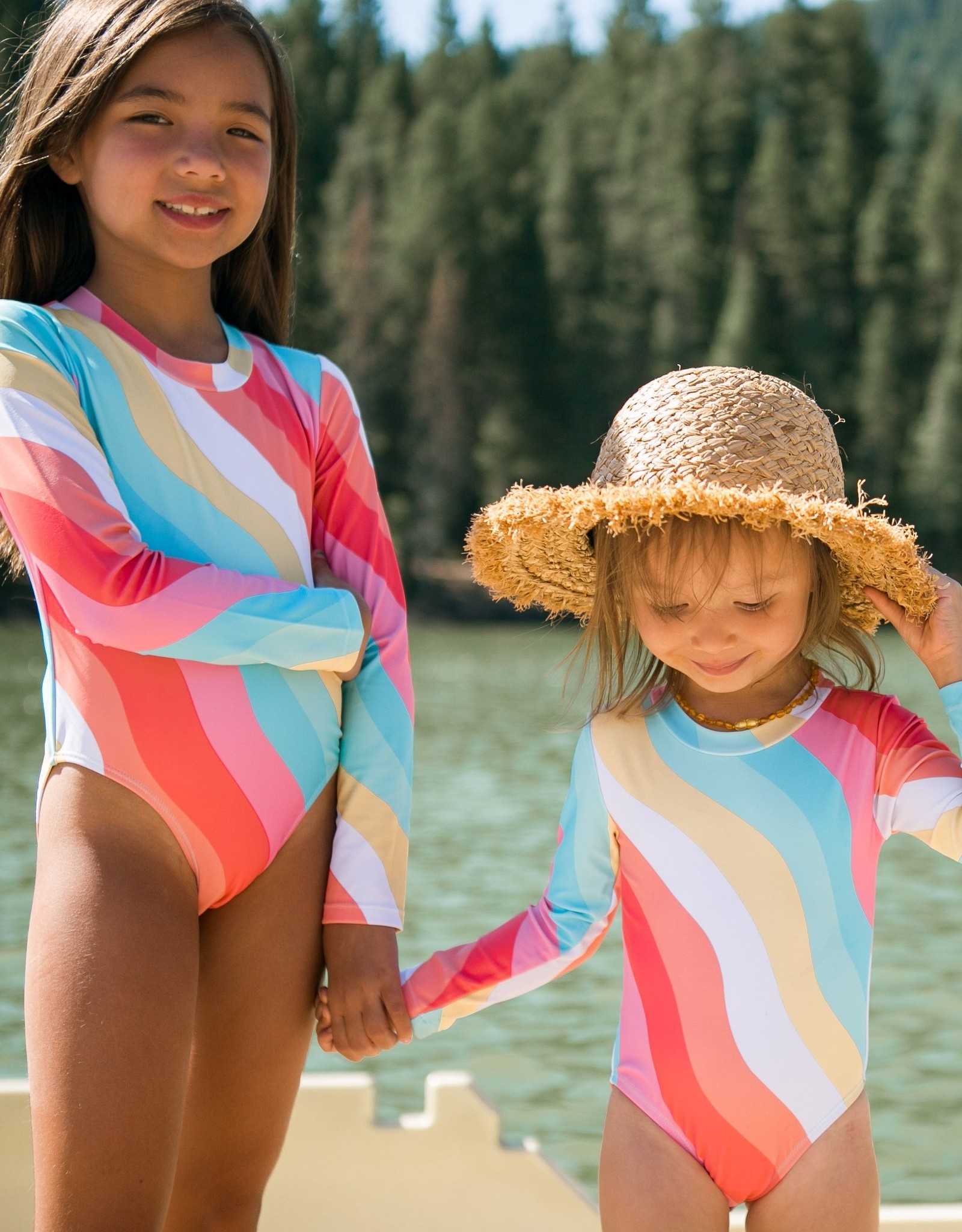 Feather 4 Arrow baby surf suit- tropical