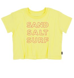 Feather 4 Arrow sand salt surf crop tee