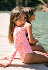 Feather 4 Arrow surf suit- coral crush