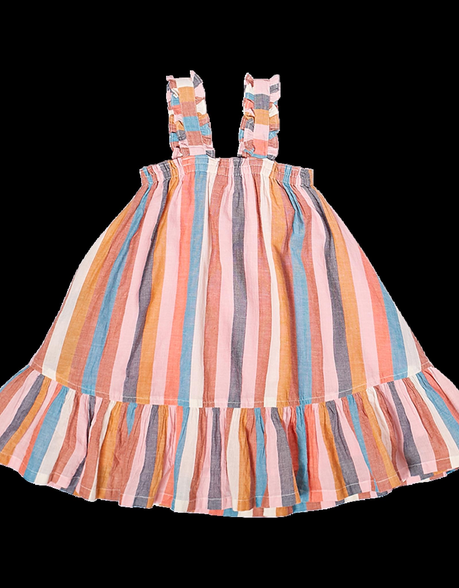Pink Chicken emma dress- multi stripe