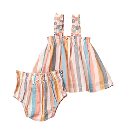 Pink Chicken emma set- multi stripe