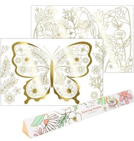 Meri Meri butterfly coloring posters