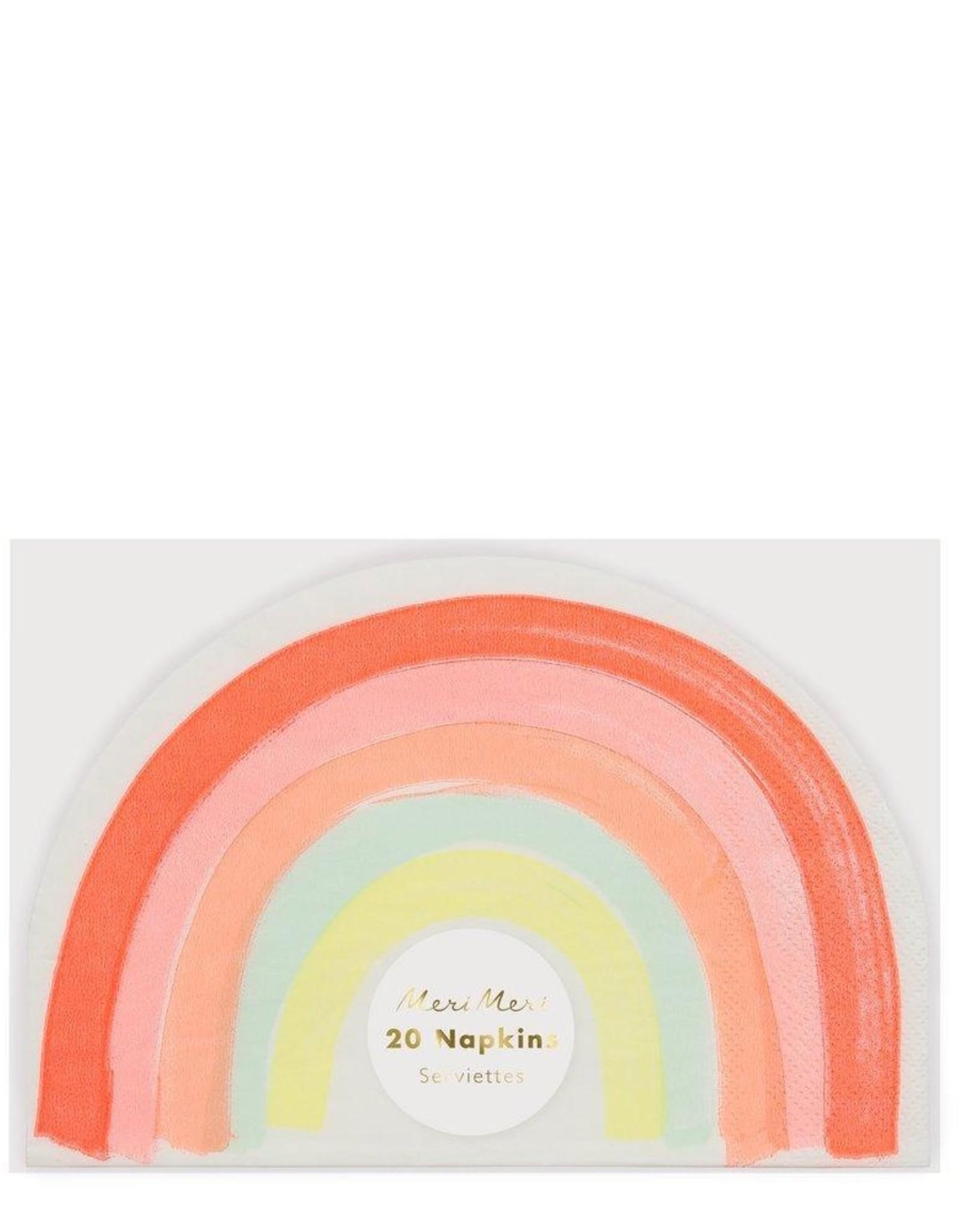 Meri Meri neon rainbow napkins