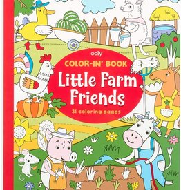 OOLY farm animals color'in book