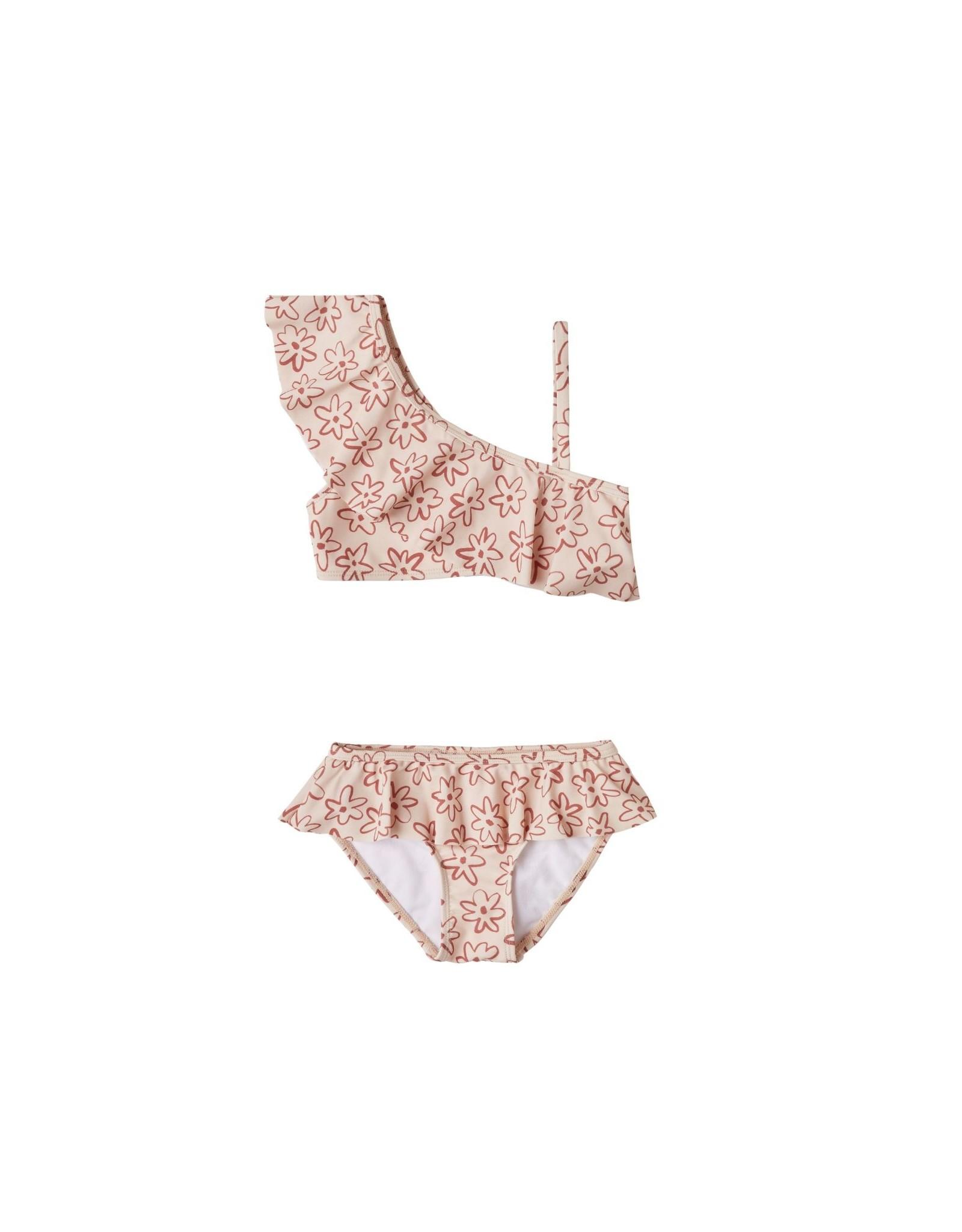 Rylee and Cru flower outline skirted bikini
