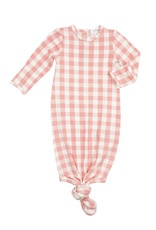 Angel Dear pink gingham knotted gown