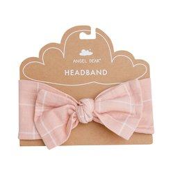Angel Dear pink grid headband