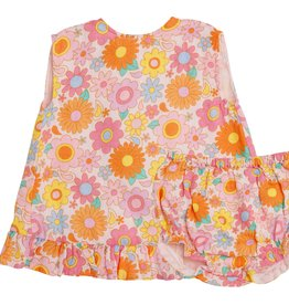 Angel Dear retro daisy ruffle top set