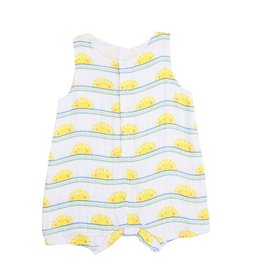 Angel Dear sun stripe shortie romper