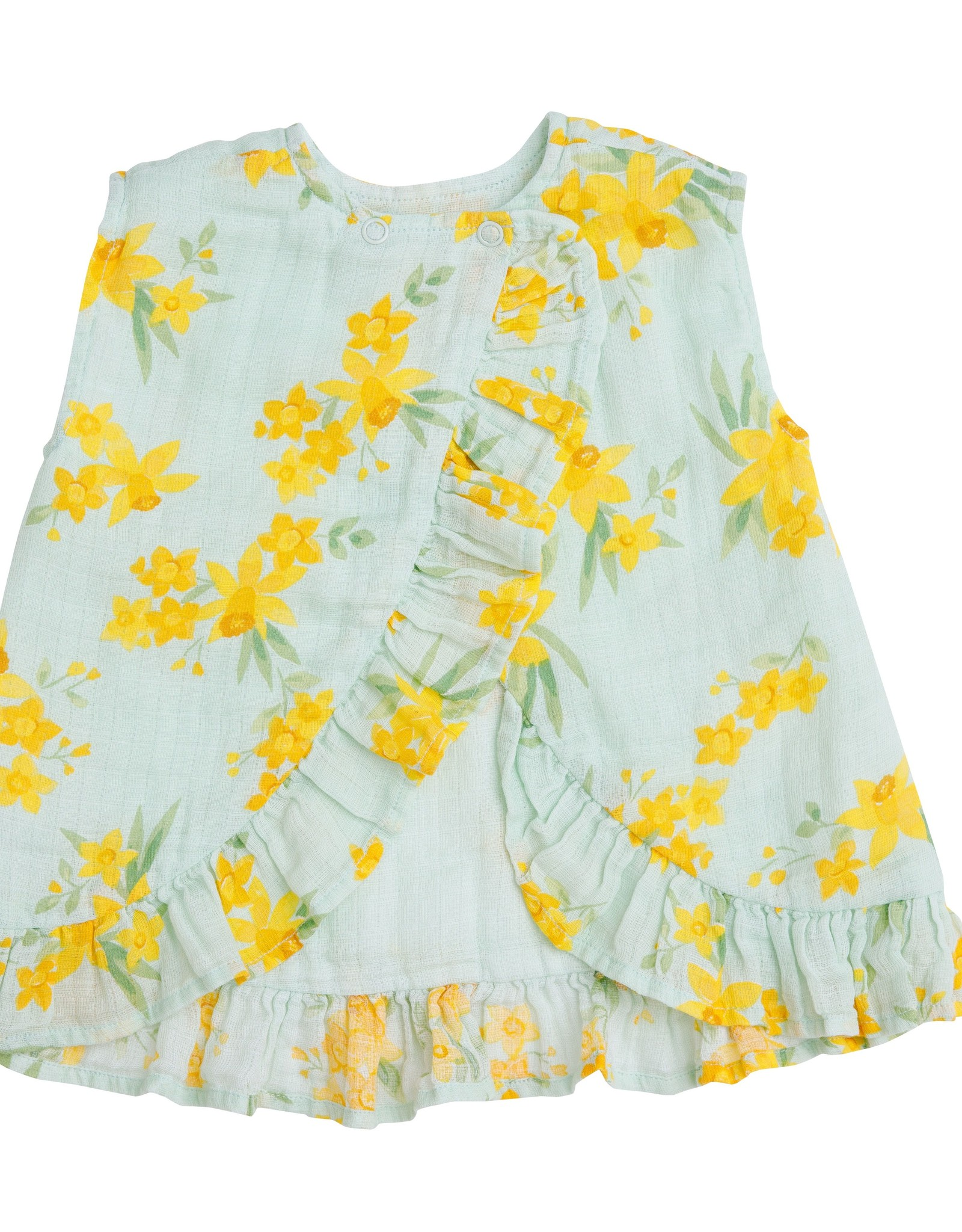 Angel Dear daffodils ruffle top set