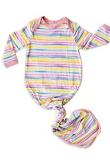 Little Sleepies knotted gown- sunrise stripe