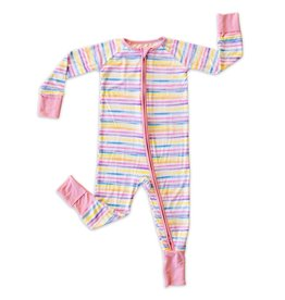 Little Sleepies sunrise stripe zippy