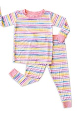 Little Sleepies sunrise stripe pajamas