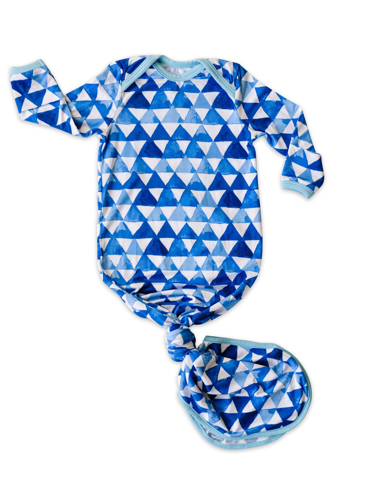 Little Sleepies knotted gown- horizon triangles