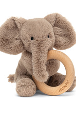 Jellycat smudge elephant wooden ring