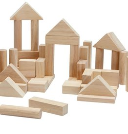 Plan Toys 40 unit block set- natural