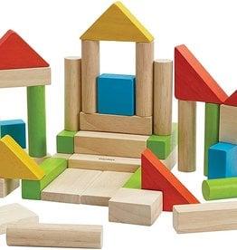 Plan Toys 40 unit block set- colorful