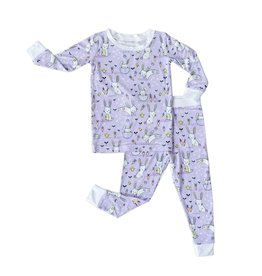 Little Sleepies lavender bunnies pajamas