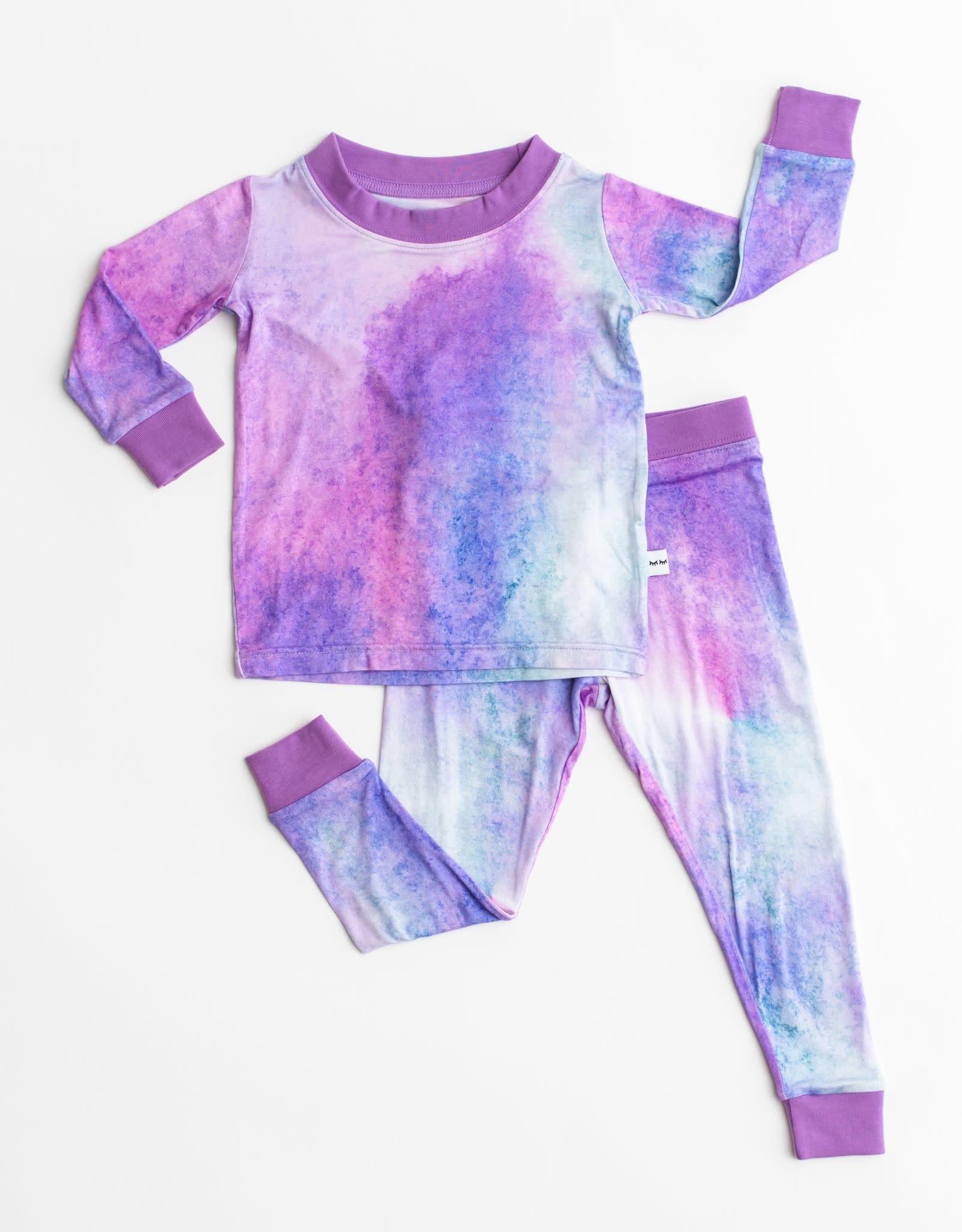 Little Sleepies purple watercolor pajamas