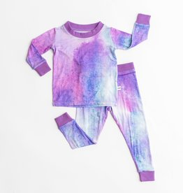 Little Sleepies purple watercolor pajamas